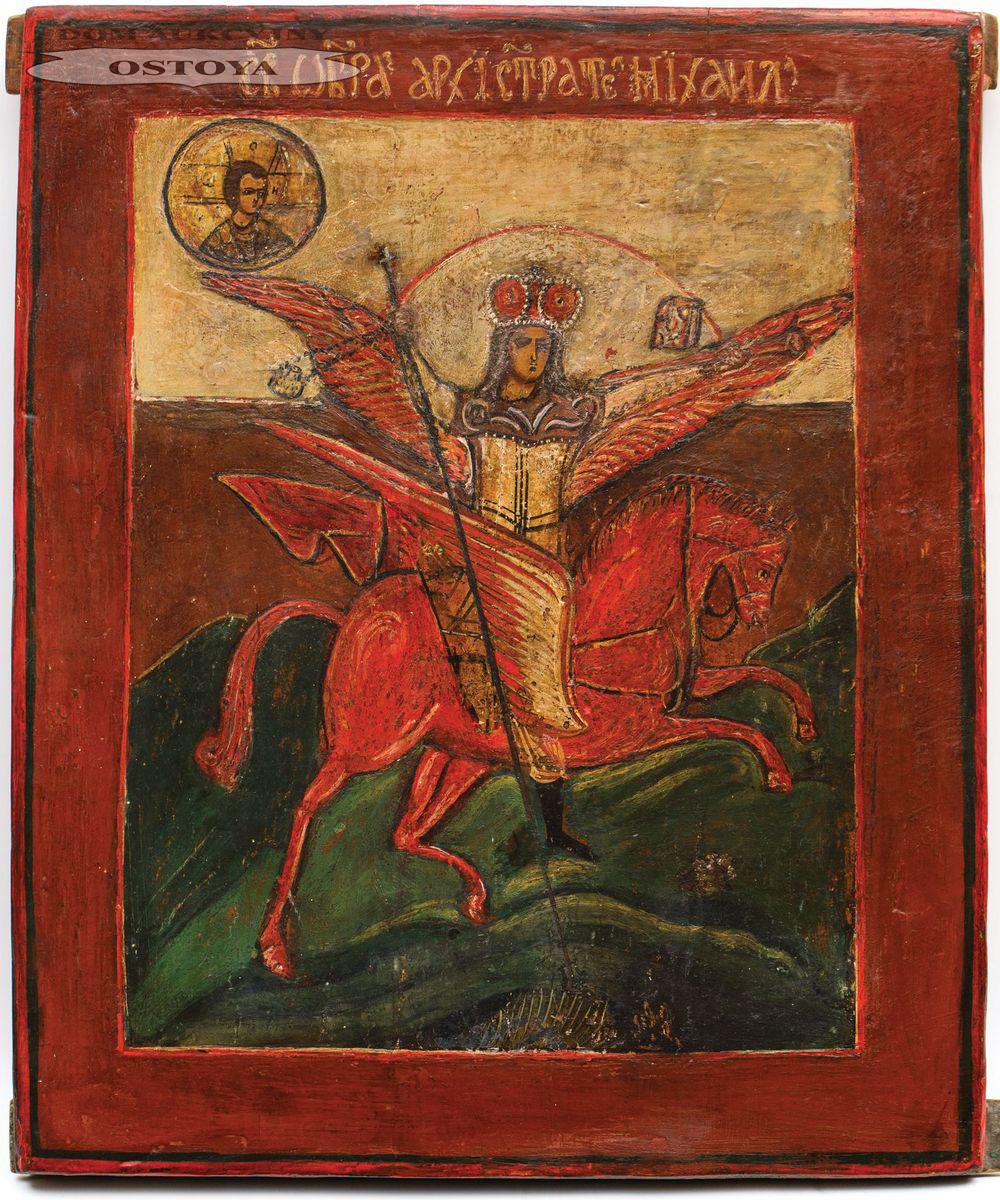 IKONA, ARCHANIOŁ MICHAŁ, Rosja, XIX w.