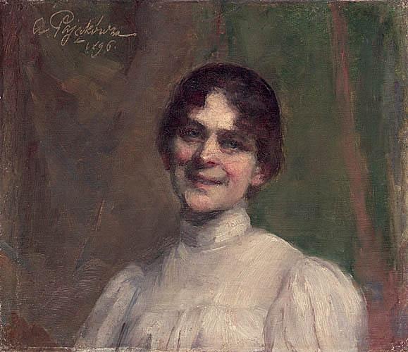 Portret damy w białej sukni, 1896