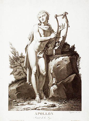 Apollo grający na lirze