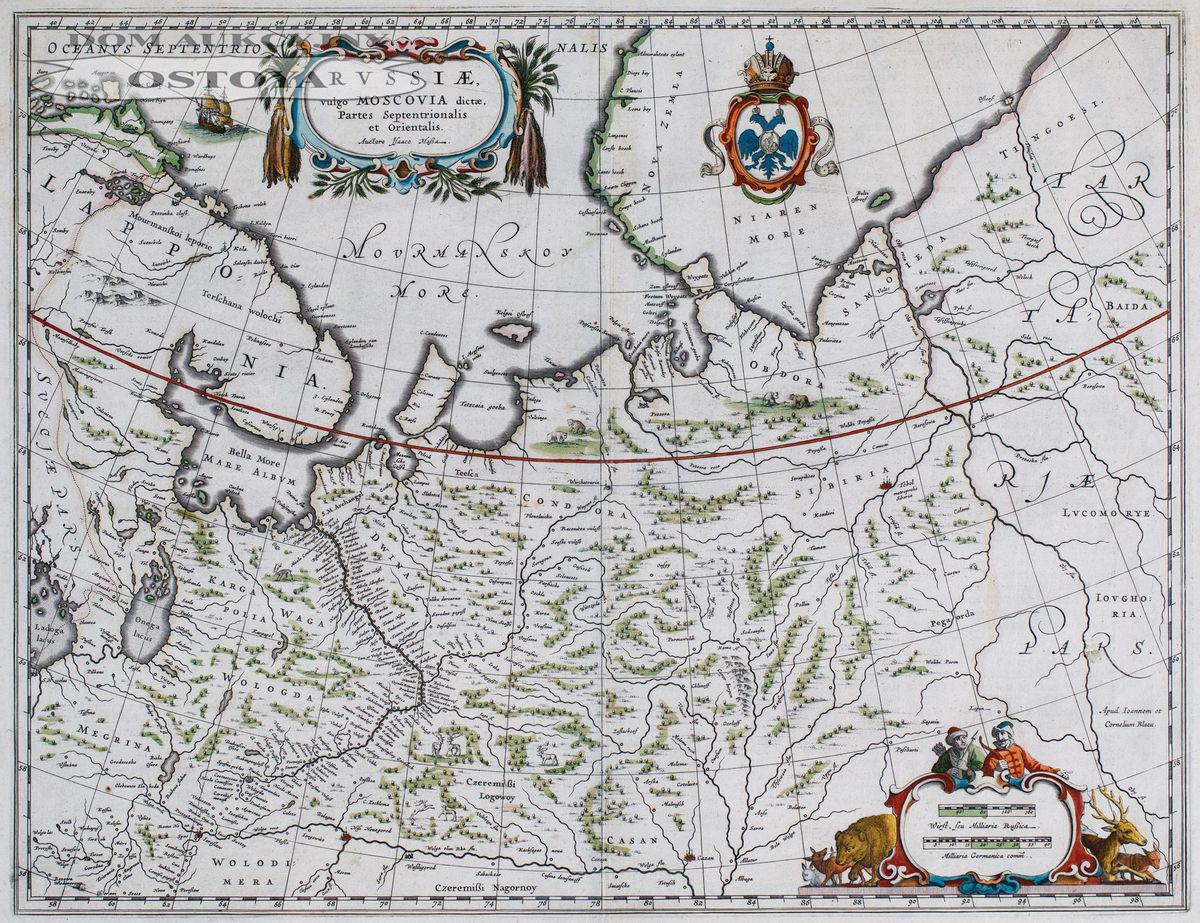 MAPA ROSJI, Johannes i Cornelis Blaeu, Amsterdam, 1650