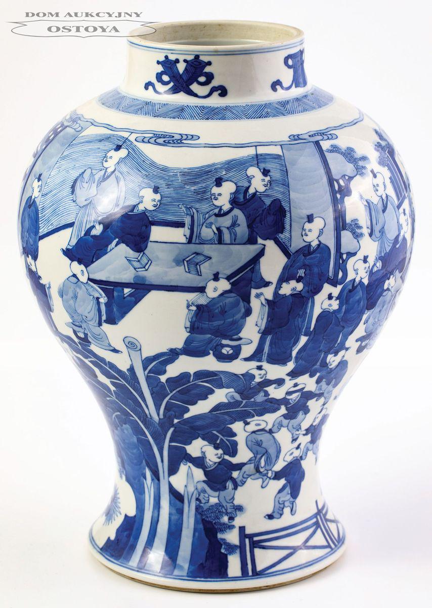 WAZA Z MOTYWEM STU SYNÓW, Chiny, Kangxi 1662-1722 (?)