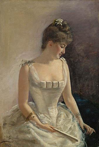 PORTRET KOBIETY W STROJU BALOWYM, 1887