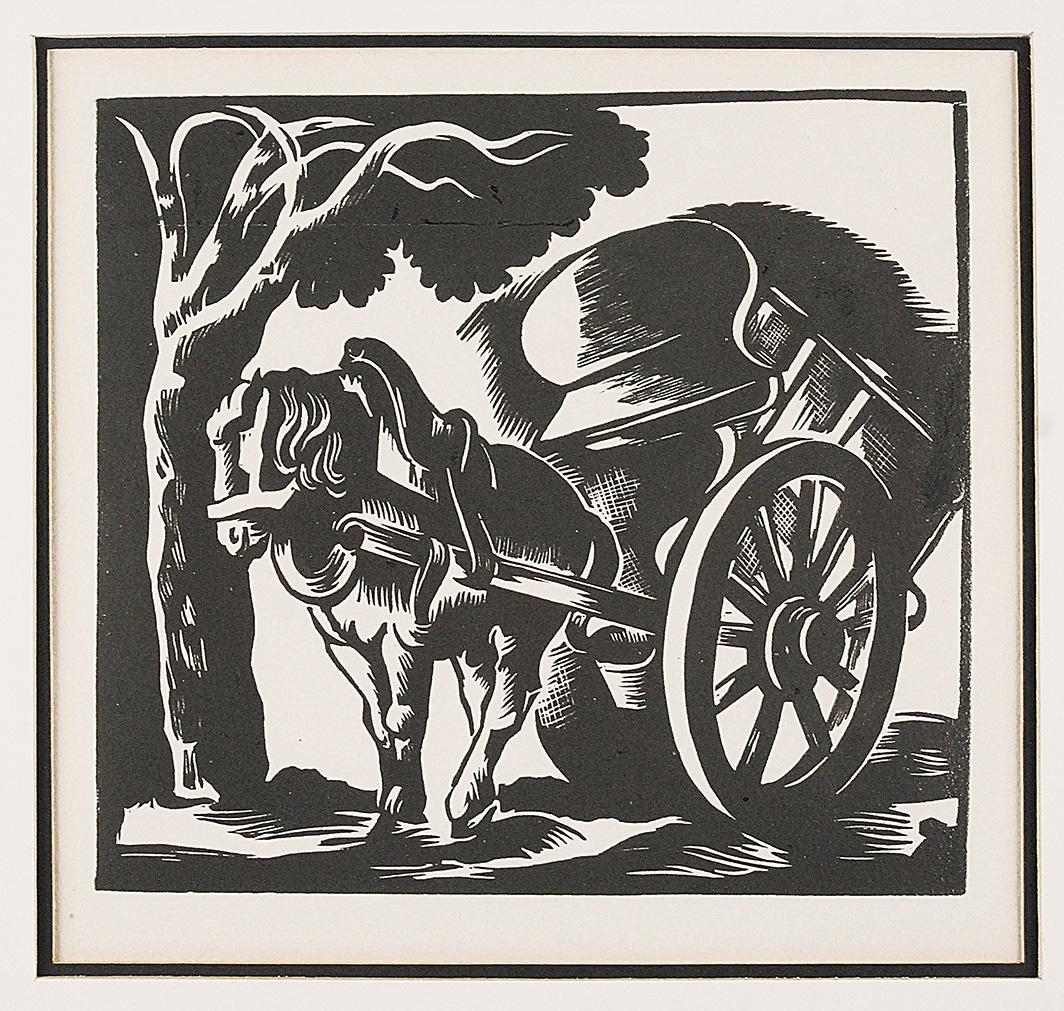 Koń z wózkiem