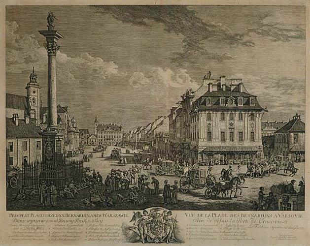 PROSPEKT PLACU PRZED BERNARDYNAMI W WARSZAWIE, 1771