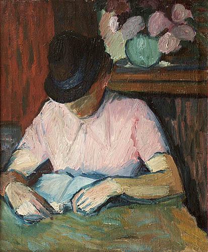 Czytająca książkę