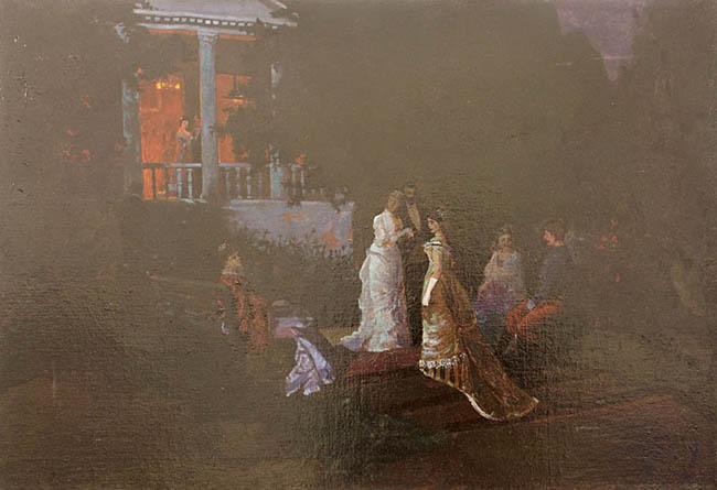 Nocą w ogrodzie