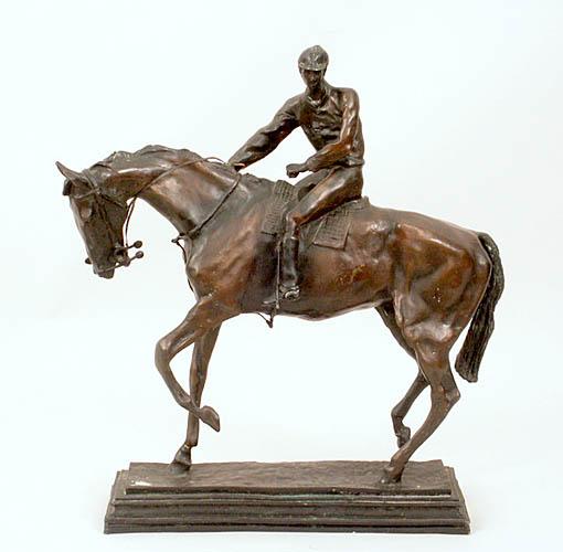 Dżokej na koniu, 1901