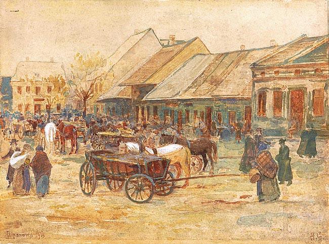 RYNEK W LIMANOWEJ, 1913
