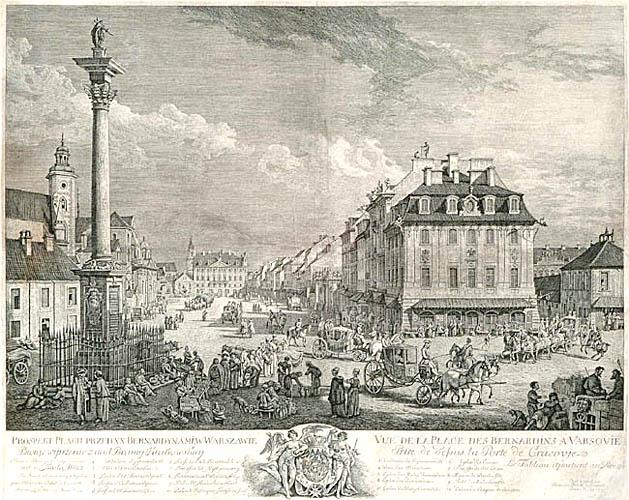 PROSPEKT PLACU PRZED BERNARDYNAMI WWARSZAWIE, 1771