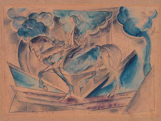 LADY GODIVA (naga kobieta na koniu), 1938