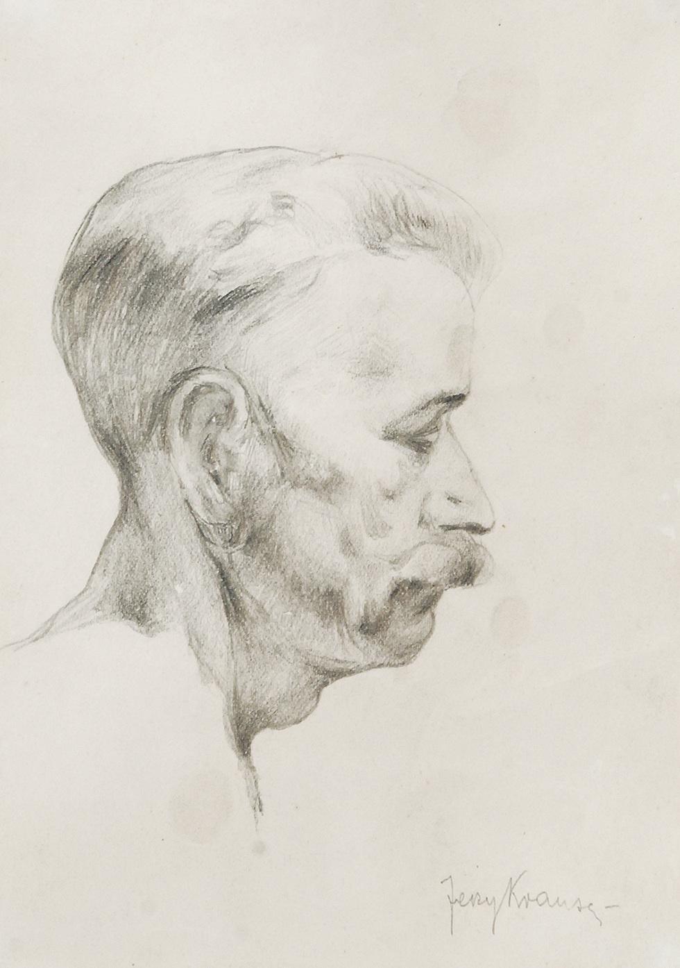 Portret mężczyzny z profilu