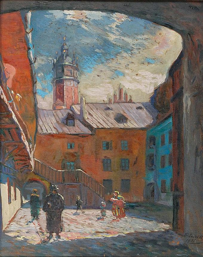 Podwórko na krakowskim Kazimierzu, 1931