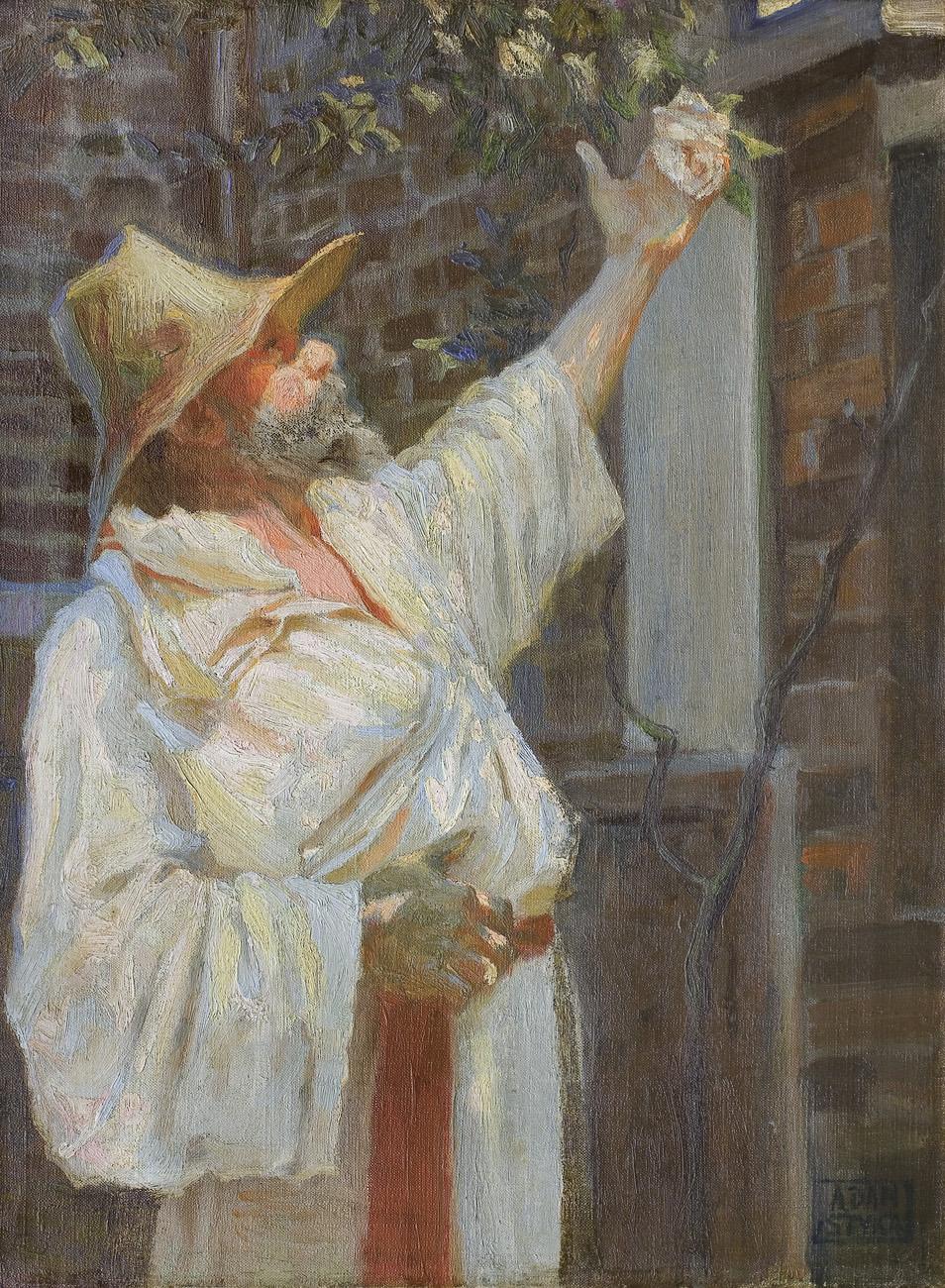 PORTRET JANA STYKI, OJCA ARTYSTY, NA CAPRI, ok. 1920