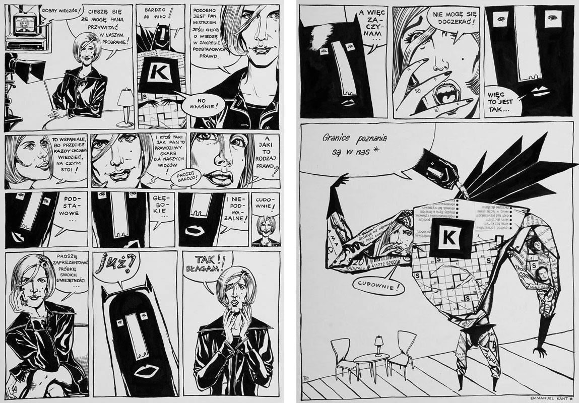K-MIX czyli najważniejsze zdania świata, podwójna plansza komiksowa, 1997 r.