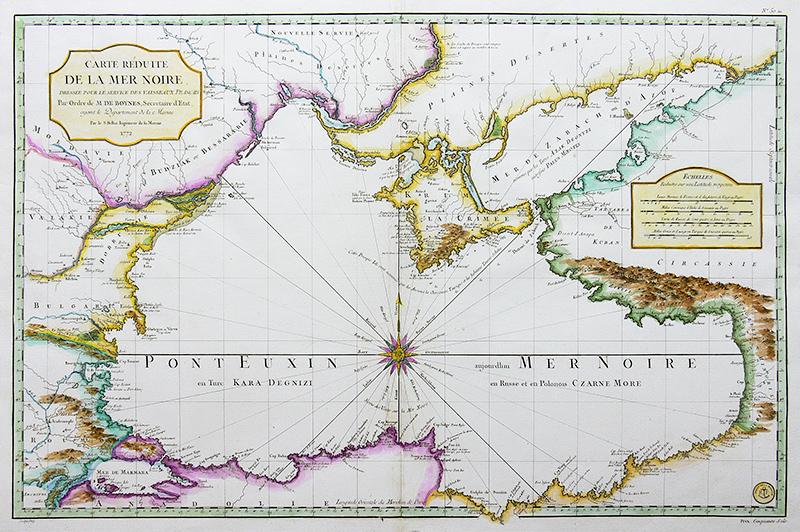 Carte Réduite de la Mer Noire...