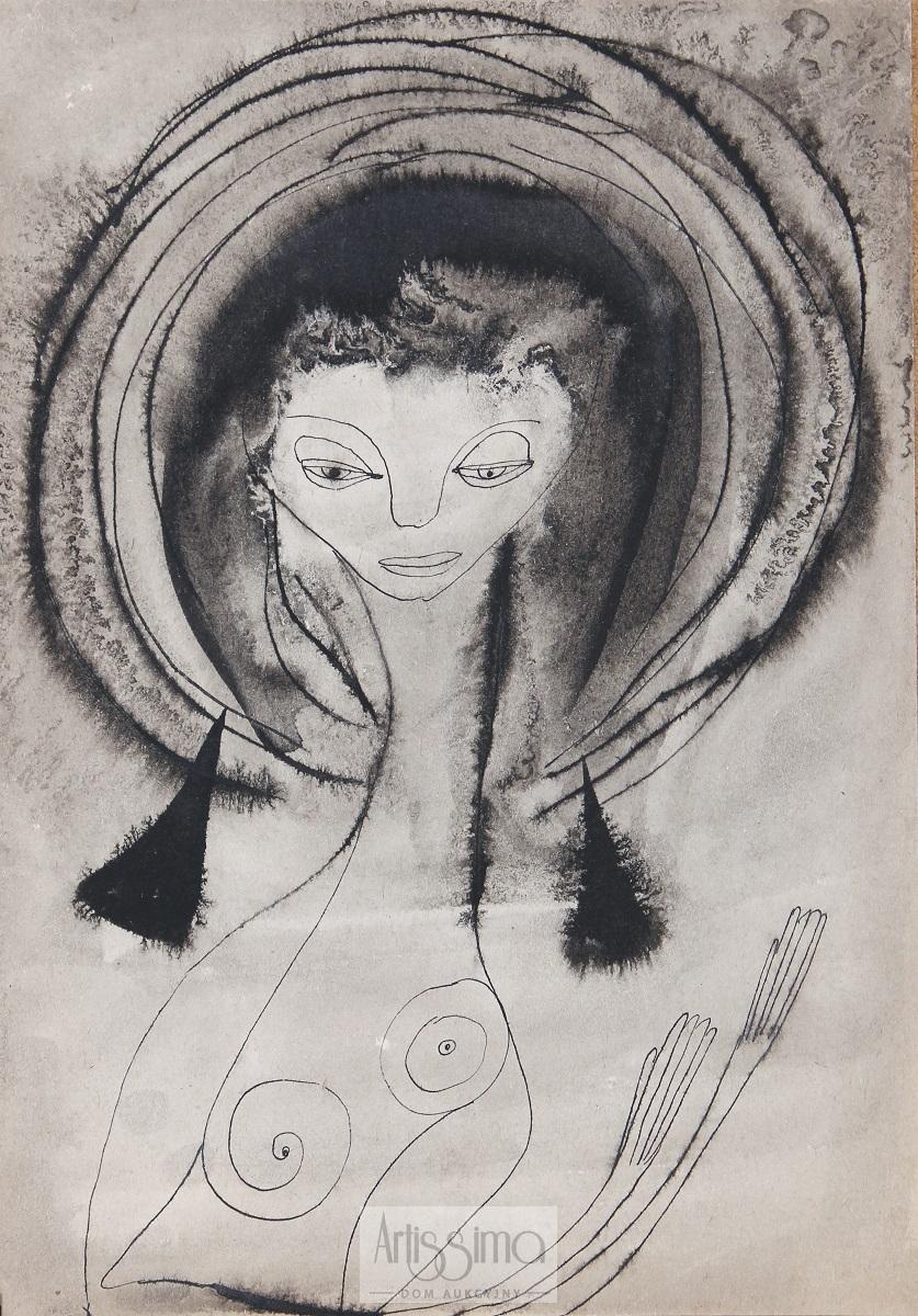 Dziewczyna w półakcie, 1953