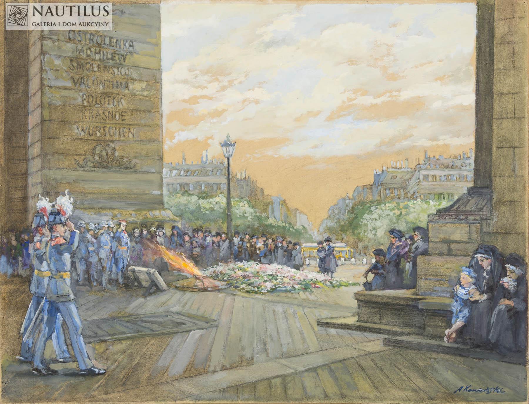 Łuk Triumfalny w Paryżu, ok. 1914