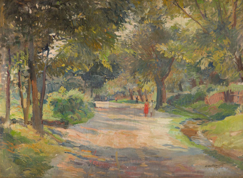 Aleja parkowa (recto) - Plewiący (verso) (praca dwustronna), 1960 r.