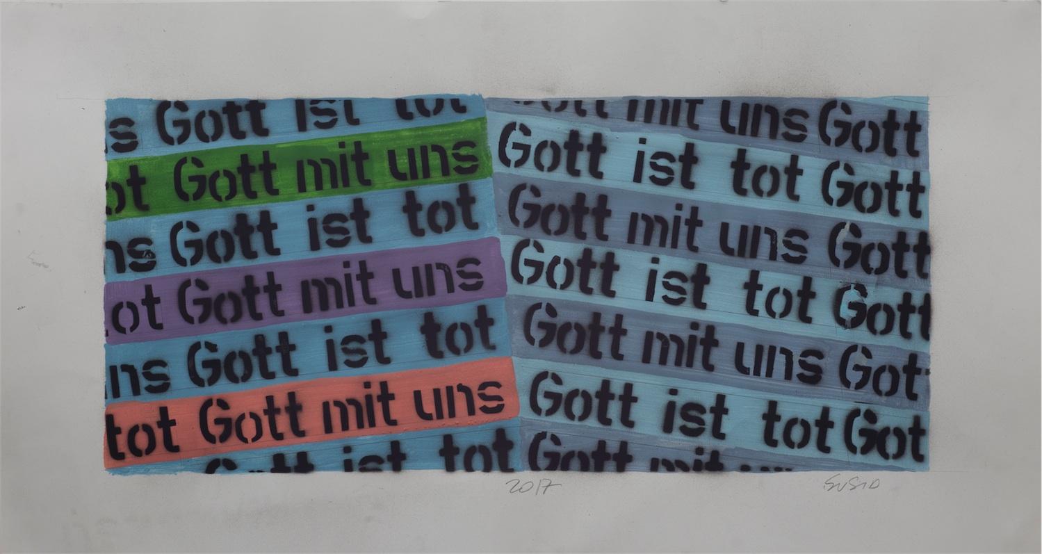 (Gott mit uns / Gott is tot...) z serii Zrozumieć słowa i wyciągnąć wnioski.