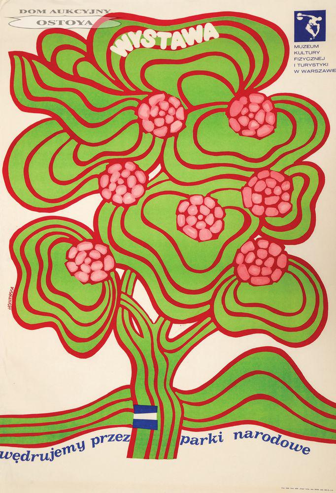 Plakat wystawy WĘDRUJEMY PRZEZ PARKI NARODOWE, 1969