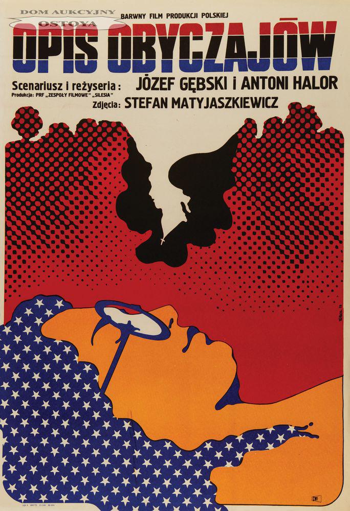 Plakat do filmu OPIS OBYCZAJÓW, 1973