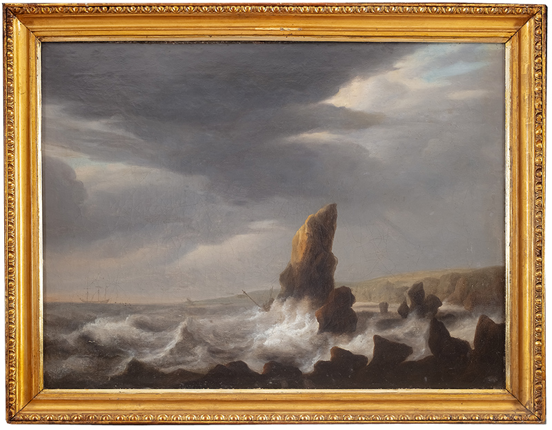 Przy brzegu, IV ćwierć XVIII w.