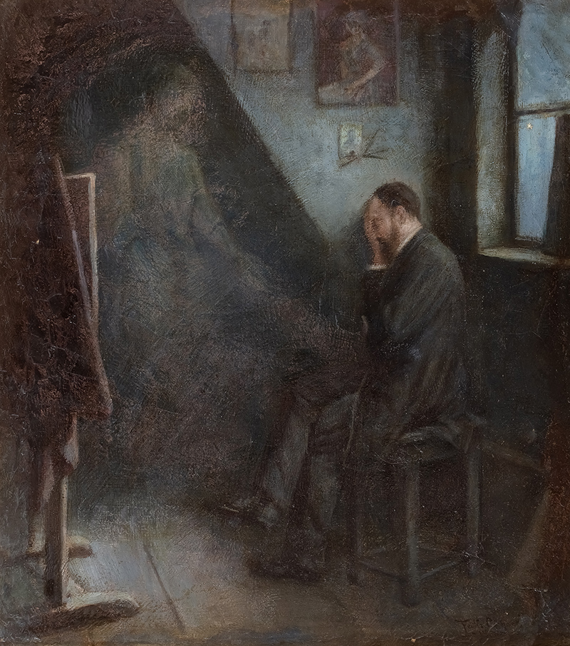 Na poddaszu, 1892 r.