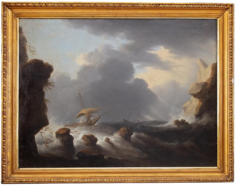 Wzburzone morze, IV ćwierć XVIII w.