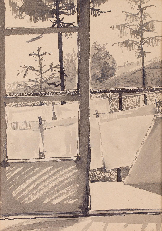 [Balkon mieszkania na Salwatorze, Kompozycja nr 767], około 1954 r.