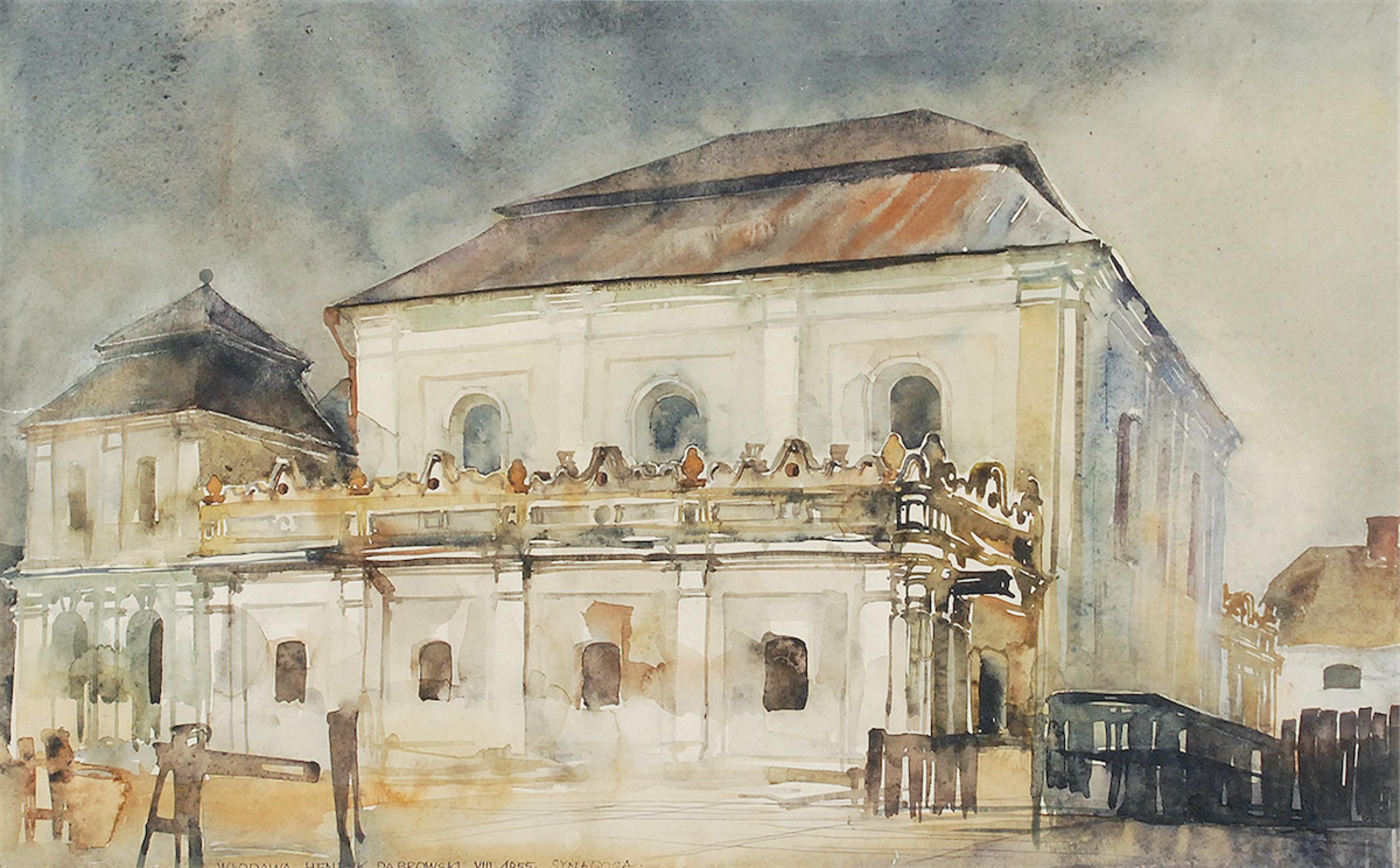 Synagoga we Włodawie, 1955
