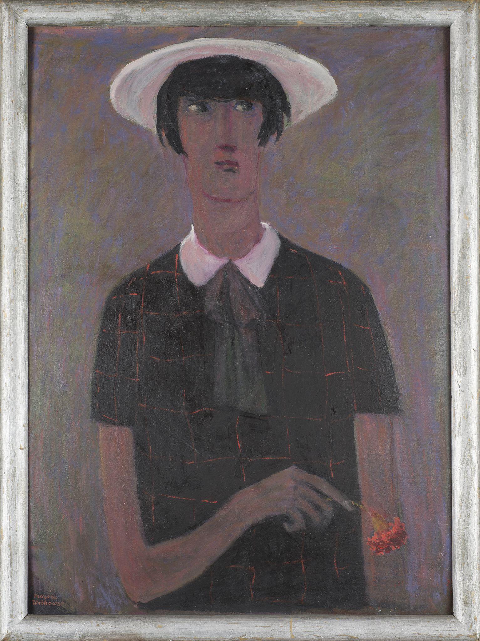 Portret dziewczyny z goździkiem