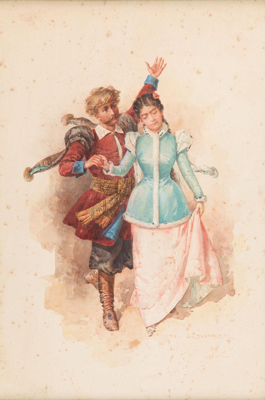 Tańcząca para, 1898 r.