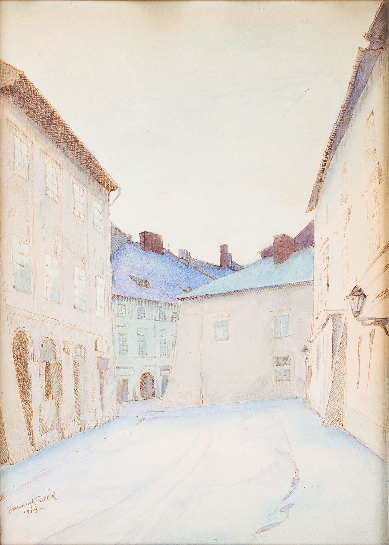 Ulica Mikołajska w Krakowie, 1914 r.