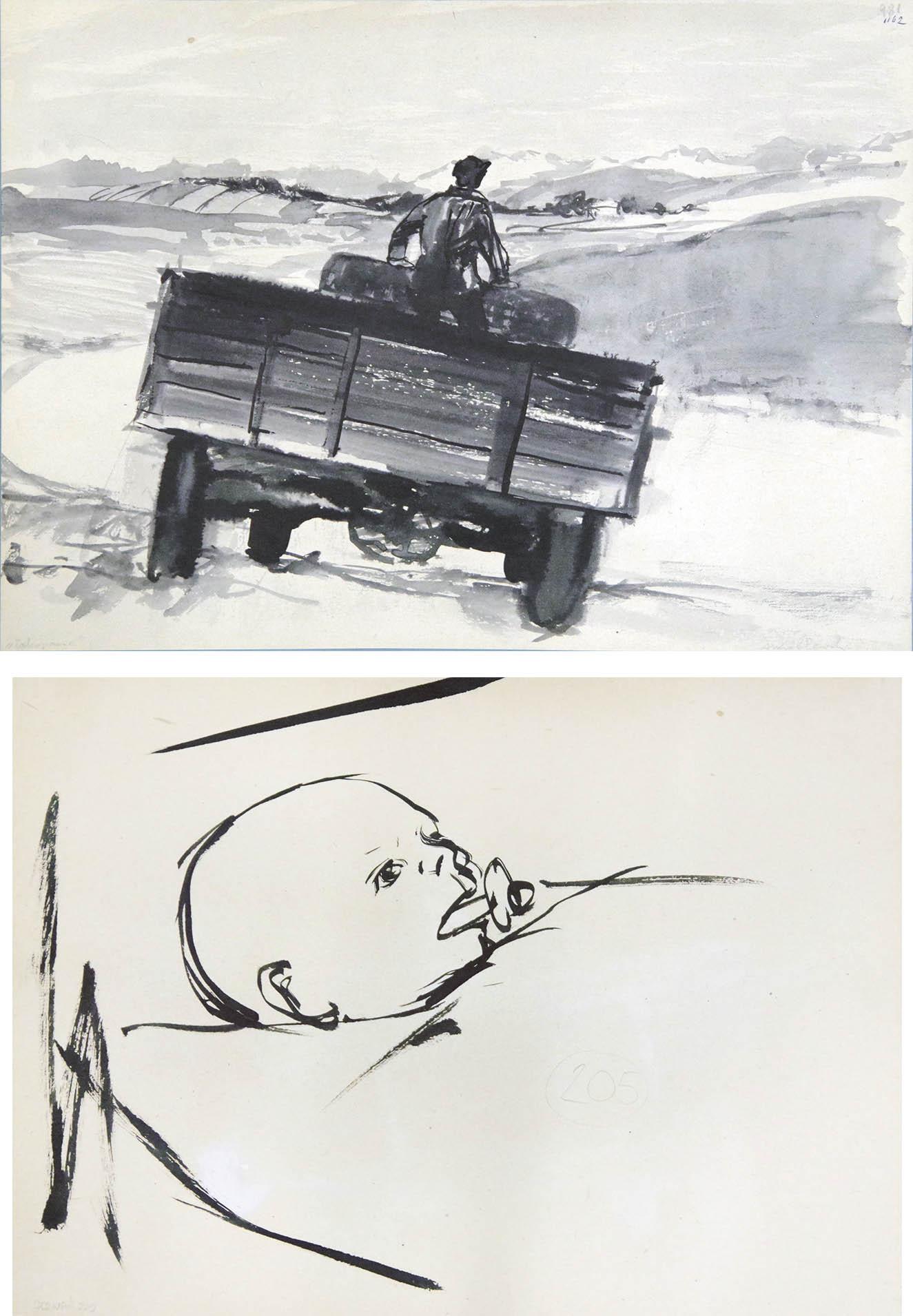 PRACA DWUSTRONNA [ZAKOPANE] NA REWERSIE [GŁÓWKA DZIECKA], OK.1954 r.