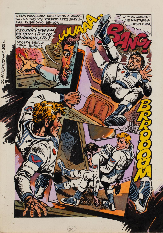 Gość z kosmosu, plansza komiksowa nr 29, 1982 r.