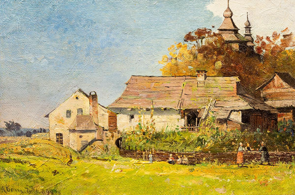 Pejzaż wiejski, 1899