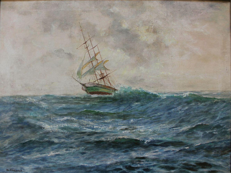 Szkuner na morzu