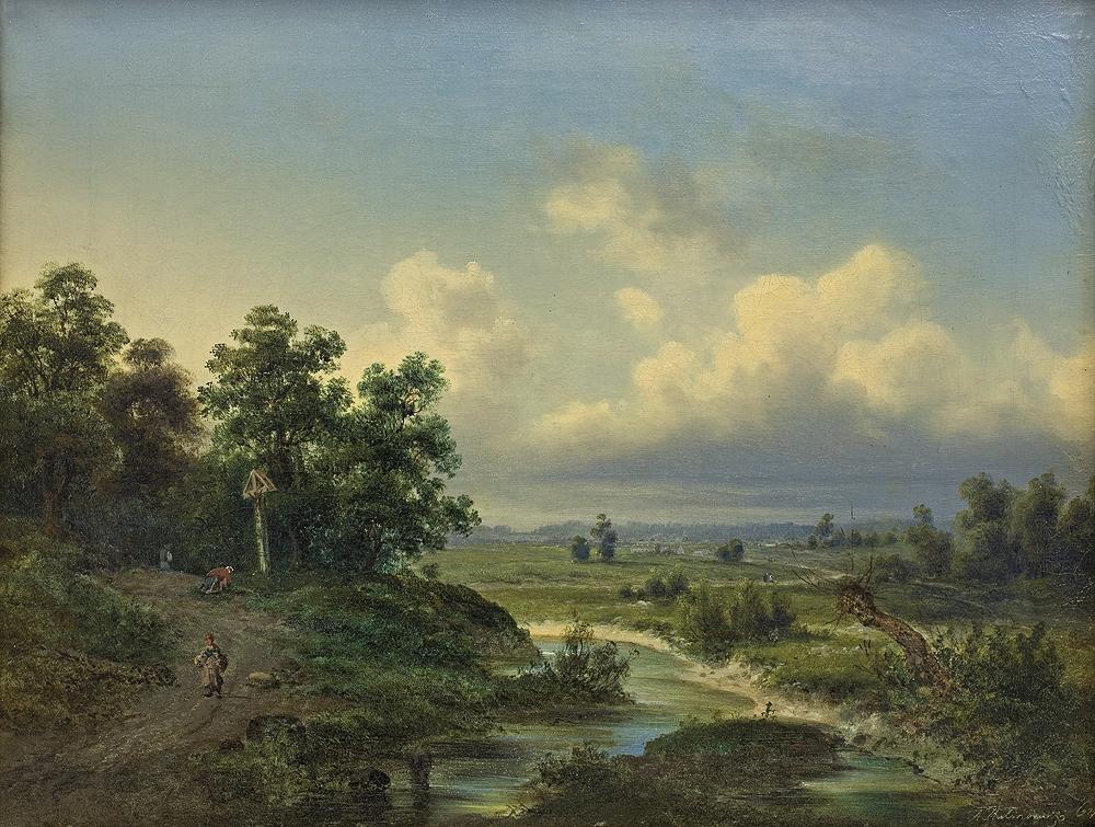 PEJZAŻ Z RZECZKĄ, 1864