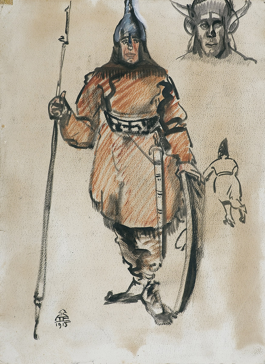 SZKIC DO OBRAZU PIASTUNY, 1915