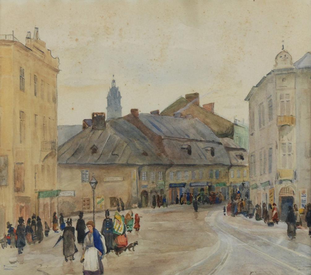 Wejście na Kazimierz (przed zburzeniem), 1912/1913