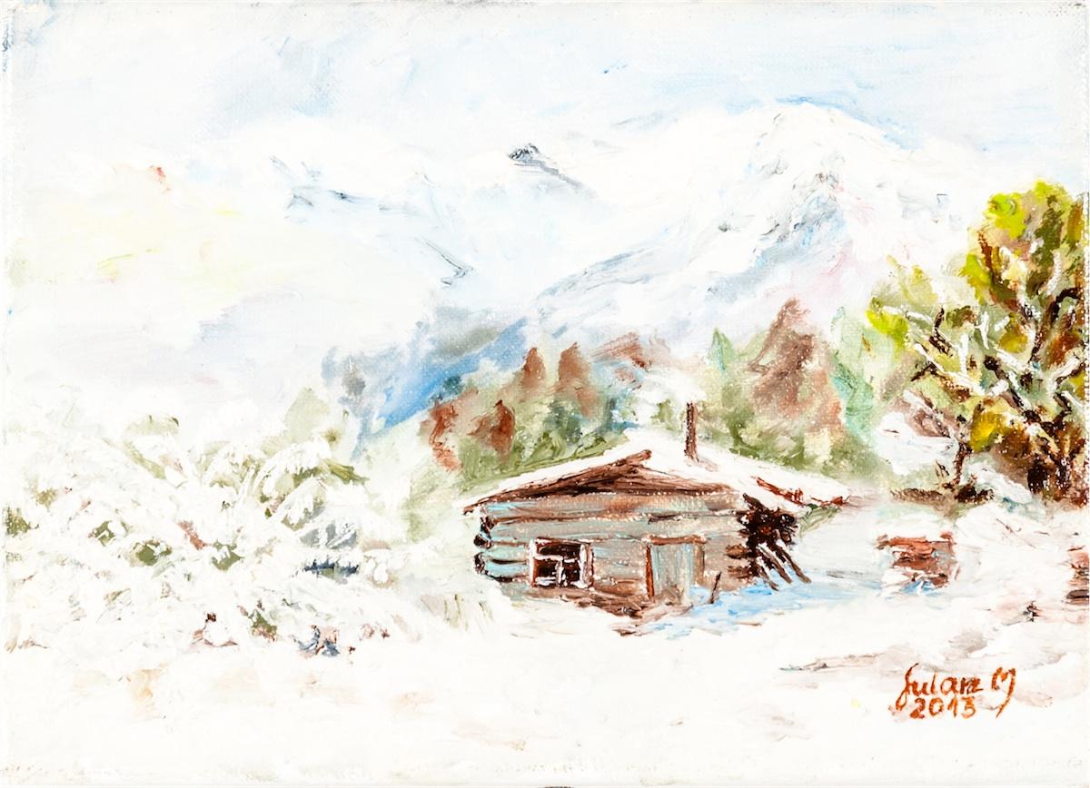 Pejzaż zimowy, 2013 r.