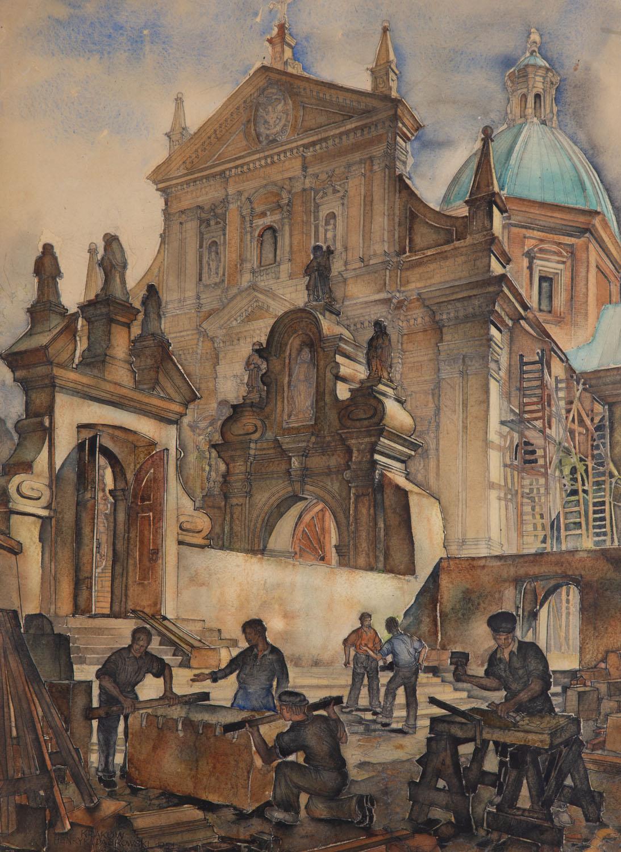 Kościół Św. Piotra i Pawła , 1951 r.