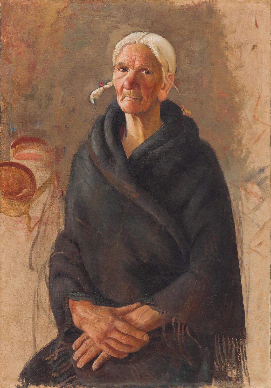 Portret staruszki, około 1930 r.