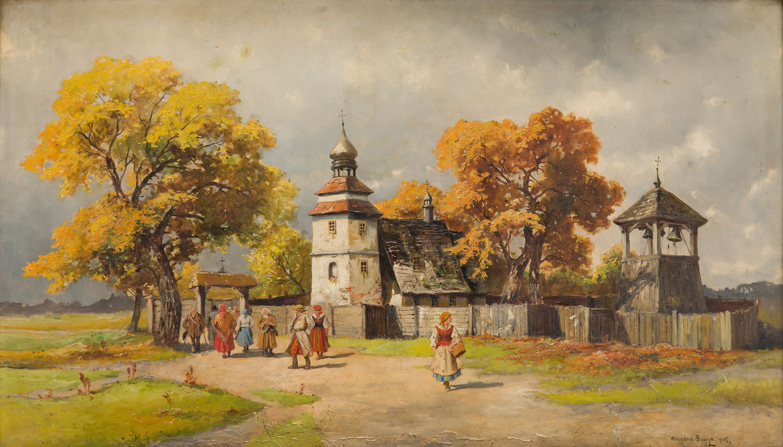Powrót z kościoła, 1905 r.