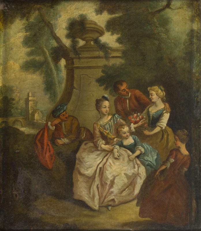 Towarzystwo w parku (wg Jeana Baptiste'a Patera)