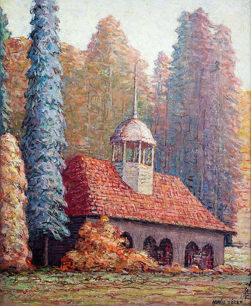 Pejzaż z Krynicy Górskiej, 1975 r.