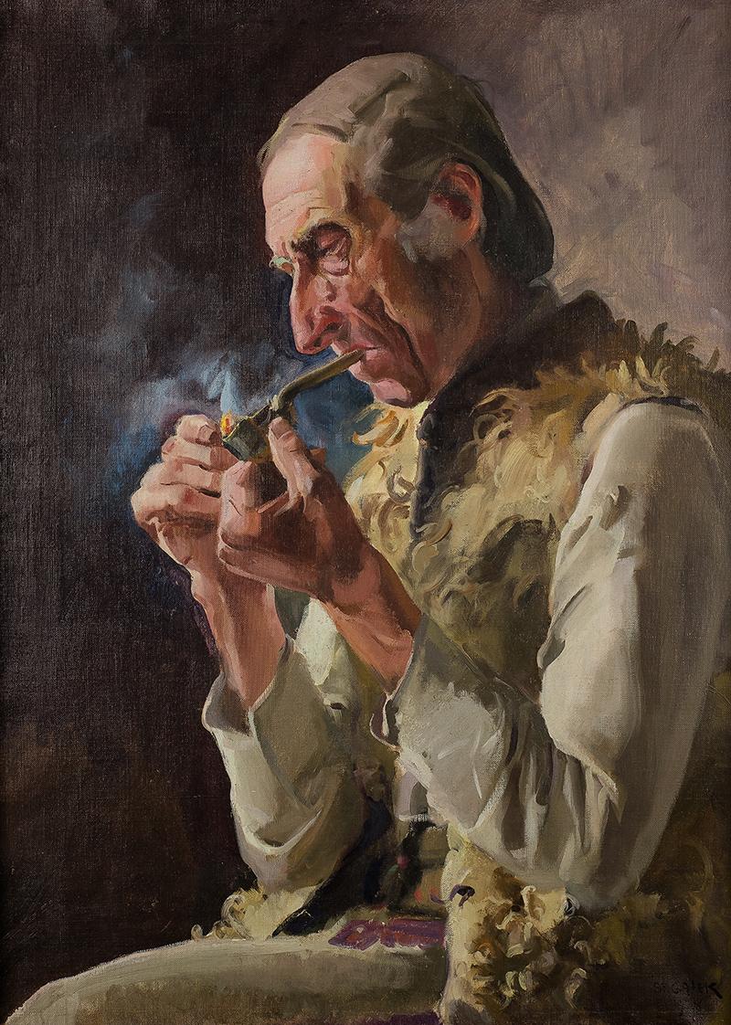 Portret dudziarza Mroza z Małej Łąki, 1928 r.