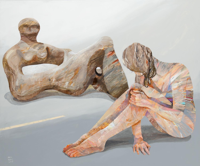 Dziewczyna z rzeźbą Moora, 2019 r.