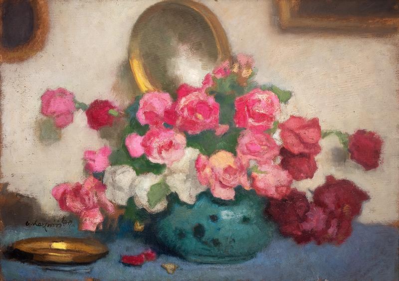 Bukiet róż we wnętrzu