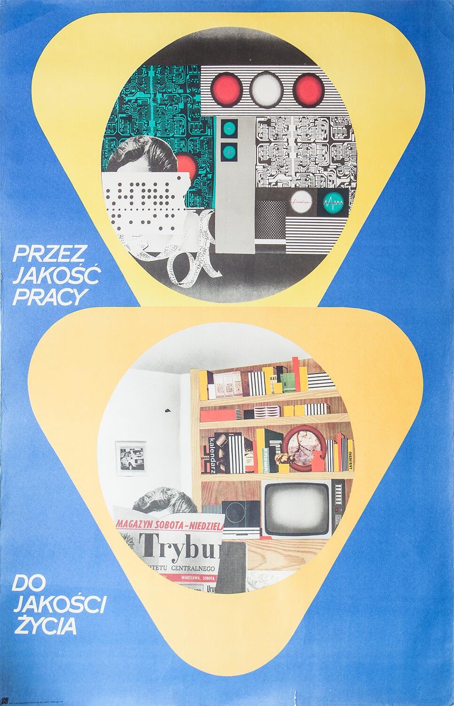 Plakat - Przez jakość pracy do jakości życia, 1977